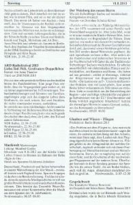 Seite 132, Detailansicht für Sonntag den 18.8.2013, Ausgabe 33, 12.8.2013-18.8.2013