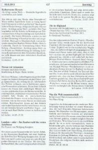 Seite 137, Detailansicht für Sonntag den 18.8.2013, Ausgabe 33, 12.8.2013-18.8.2013